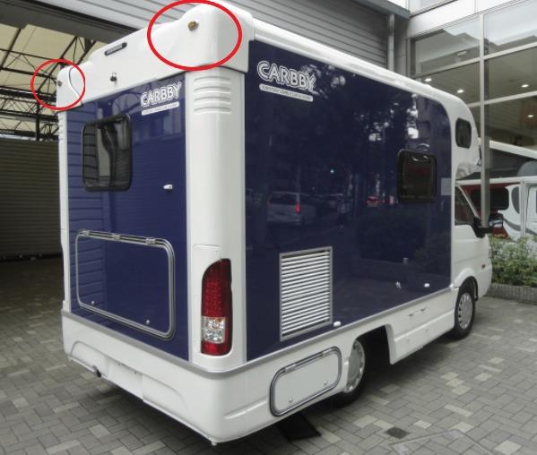 キャンピングカーマーカーランプ