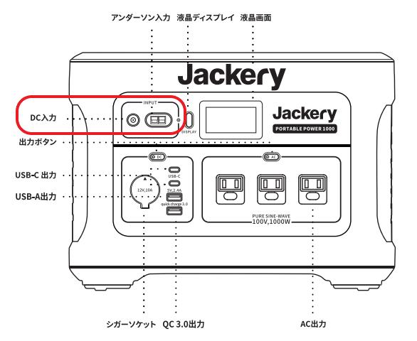 Jackery1000充電説明